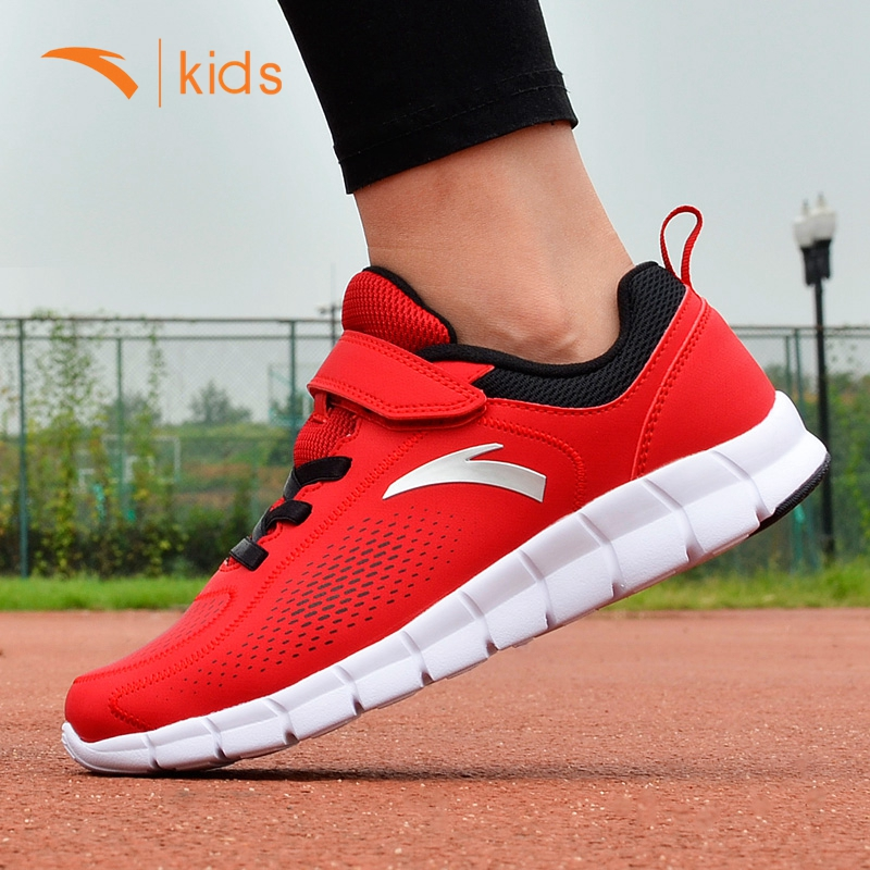 Anta shoes boy casual shoes 2016 autumn big boy student movement waterproof leather shoes male teenagers running shoes