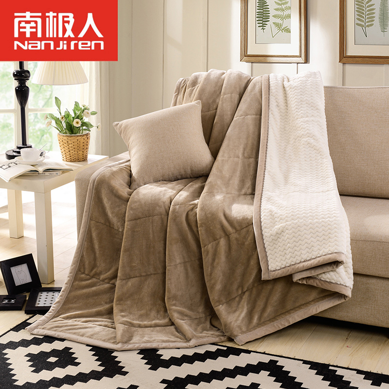 Antarctic double thick flannel blanket air conditioning blanket single double coral velvet warm winter blanket
