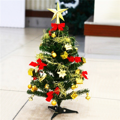 Anyang 60cm golden christmas tree encryption deluxe package christmas tree mini desktop christmas tree christmas decoration