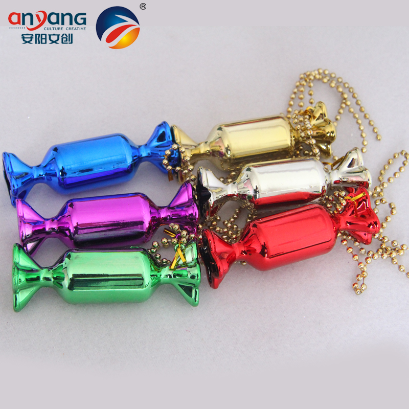 Anyang to celebrate christmas decoration gift objects tree ornaments creative stage layout gilt cylinder candy kabob 10 cm