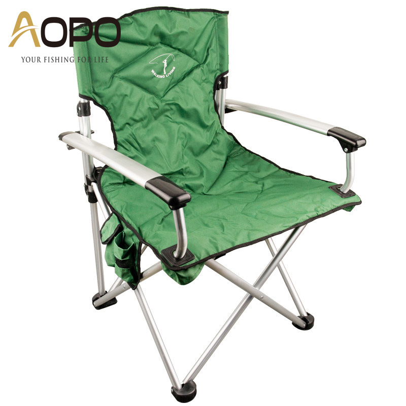 Aopo outdoor leisure portable folding chairs plus thick large armchair fishing chair beach chair folding stool