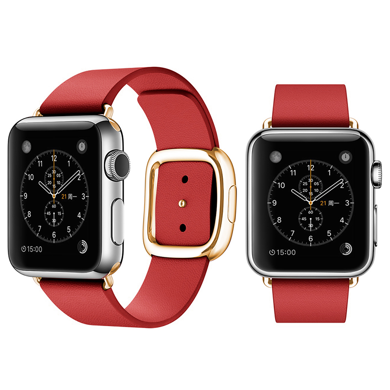Get Quotations · Apple apple iwatch watch strap watch strap leather strap modern wind magnetic style leather men and