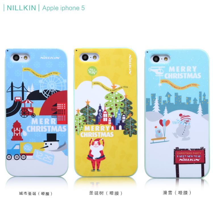 Apple iphone 5s phone shell mobile phone shell apple 5 mobile phone sets christmas series luminous lanyard hard shell protective shell