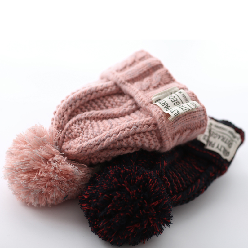 Around the us and south korea korean winter hat female korean version of the influx of new blending wool hat warm winter hat knitted hat