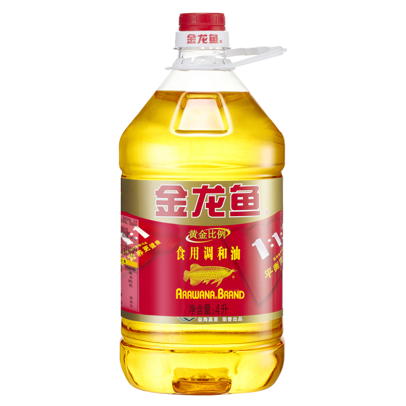 Arowana golden ratio edible oil cooking oil 4l