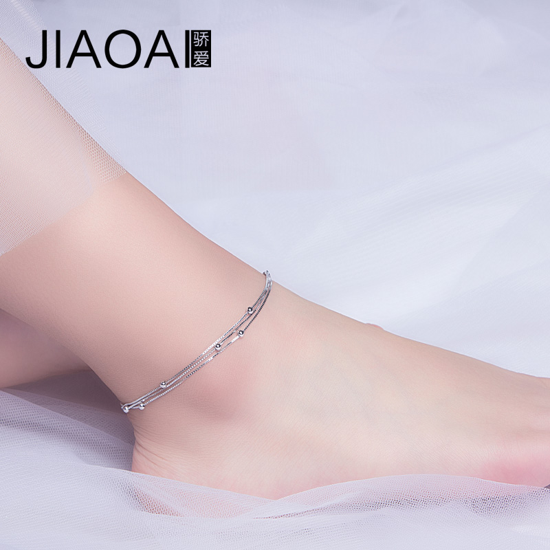 bracelet anklet pin gift shopping bead ankle twisted rose sterling silver chain gold