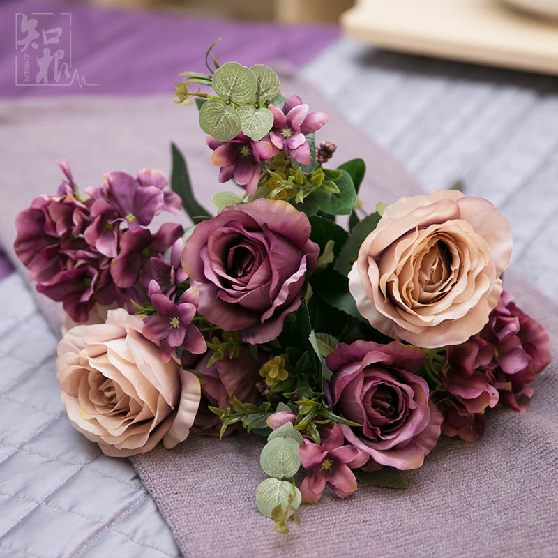 China Artificial Rose Bunches, China Artificial Rose Bunches ...