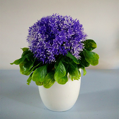 Artificial flowers artificial plants potted artificial flowers suit the living room home furnishings fleshy little bonsai plants plastic flower ball