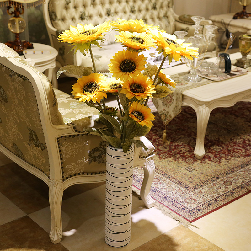 Artificial flowers decorative flower garden living room floor flower sunflower sunflowers suit silk flower artificial flower plastic flower