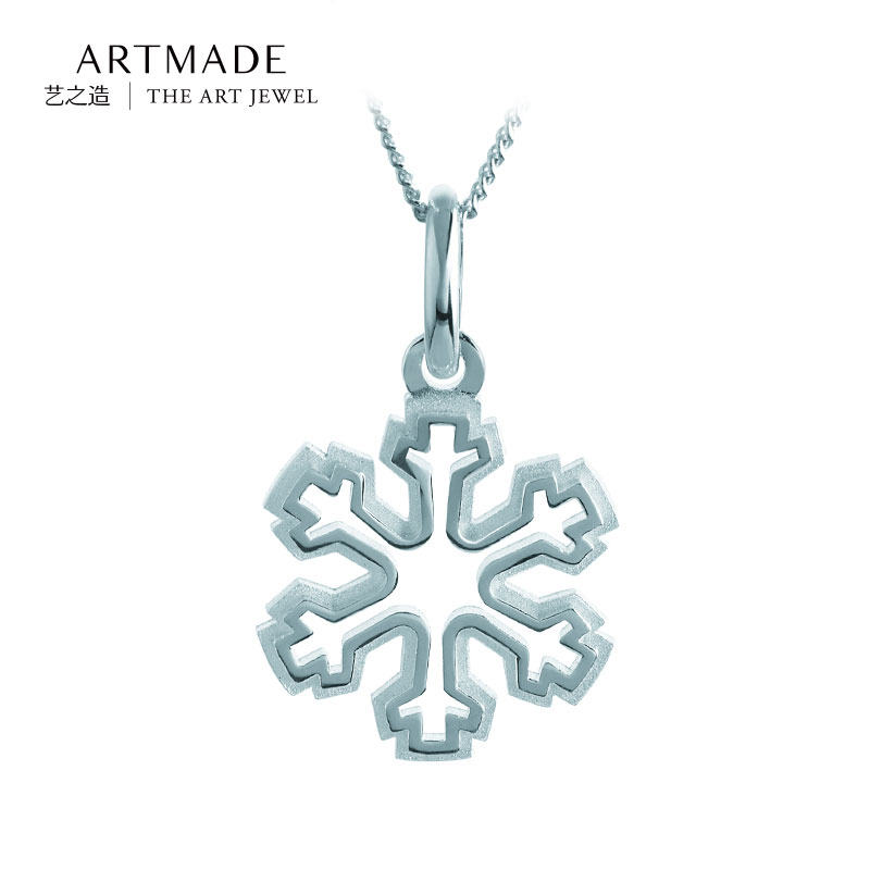 Artmade art of making 925 silver snowflake pendant 925 silver pendant necklace female models fashion jewelry chain