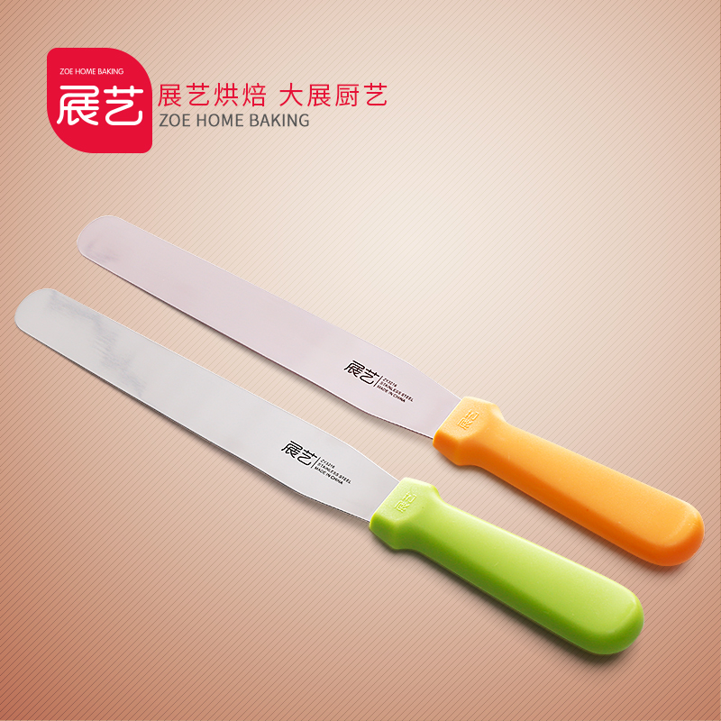 Arts exhibition bakeware stainless steel butter knife spatula cake decorating kiss stripping knife blade stirring rod