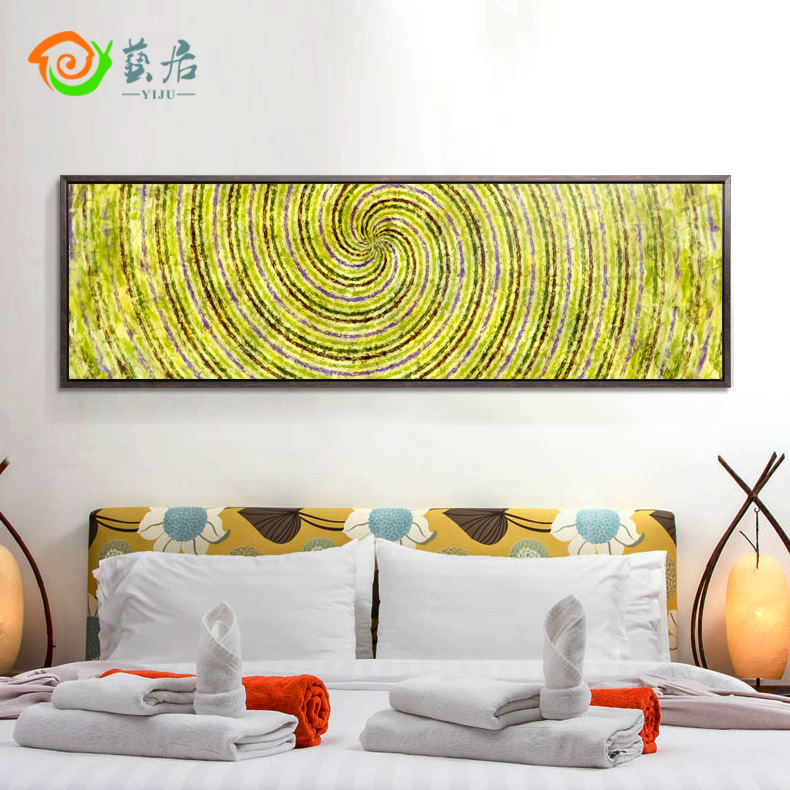 Arts habitat pastoral modern minimalist restaurant mural painting decorative painting the living room sofa wall paintings framed abstract field shipping