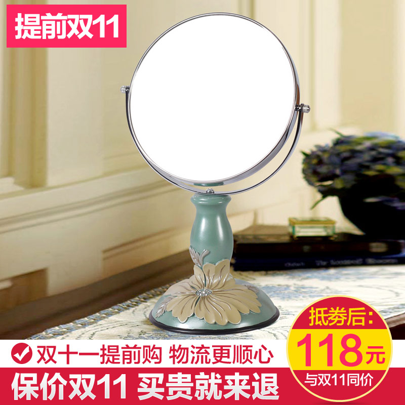 Arts kindly bali hibiscus peony sided euclidian 3 3x zoom sided mirror cosmetic mirror vanity mirror