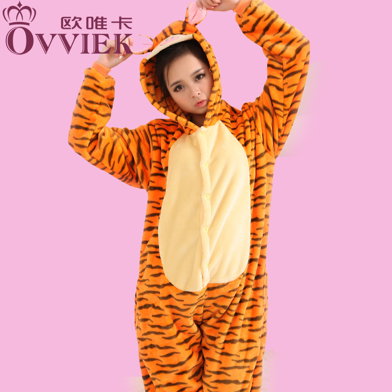 Arvato card cartoon animal piece pajamas tracksuit cute meng po essential toilet flannel tigger