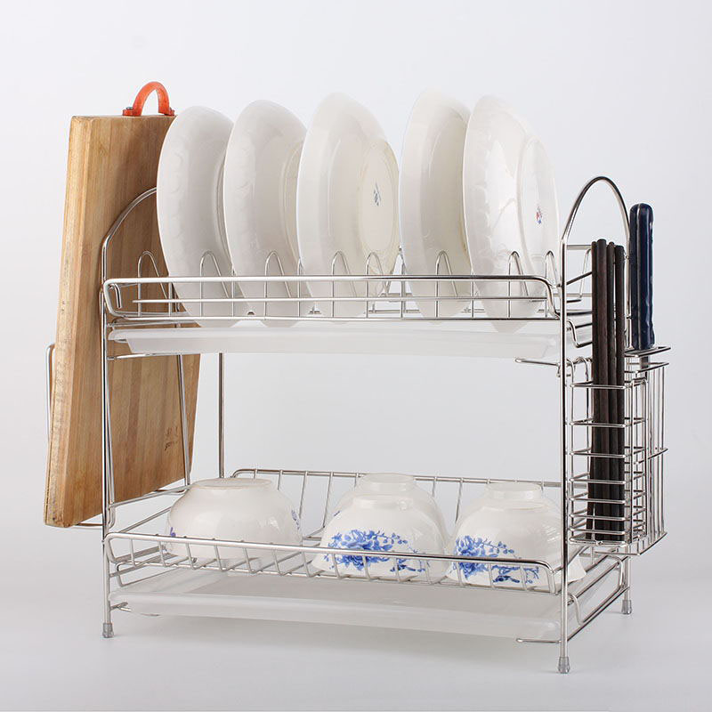 Get Quotations · Asahi all stainless steel double drain rack dish rack dish rack kitchen shelving storage rack dish & China Stainless Plate Rack China Stainless Plate Rack Shopping ...