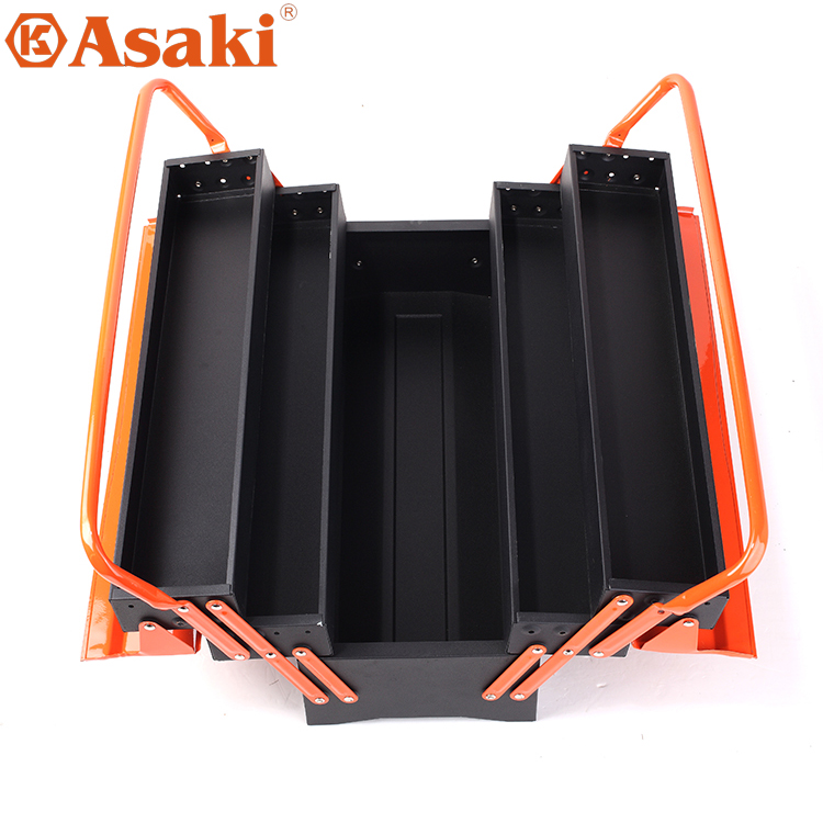Asaki three double put toolbox full of iron metal storage cabinet large load tensile portable toolbox Box