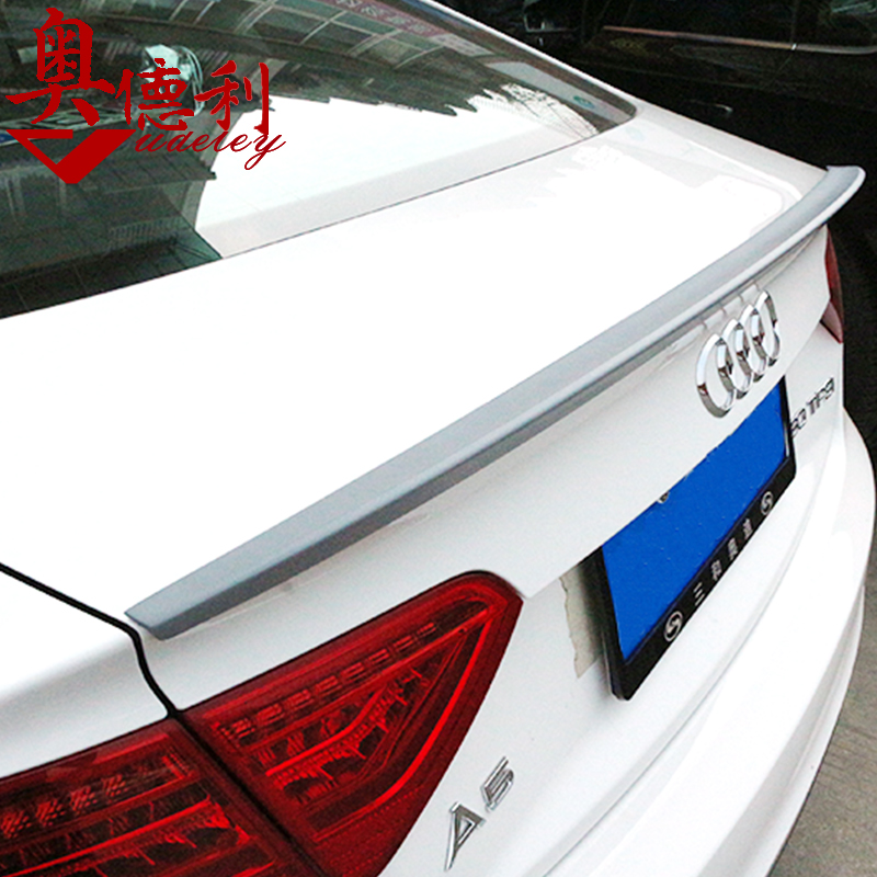 Audi a5 a6l tail empennage dedicated it is true s6 s5 modified carbon fiber wing pressure tail wing with carbon fiber wing lying