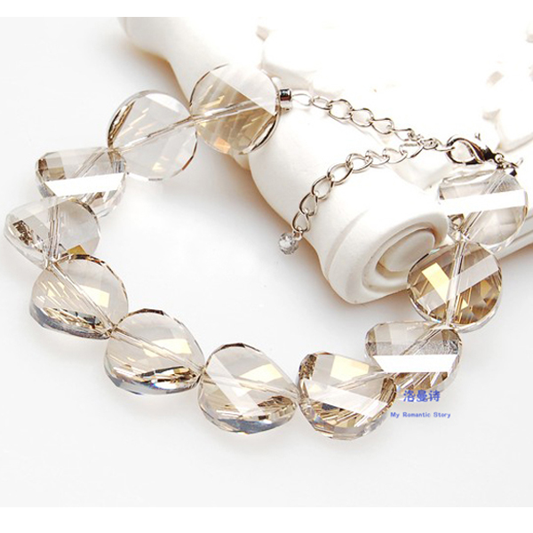 Austria imported white crystal silver bracelet female korean version of the simple free shipping south korea imported fashion jewelry hand