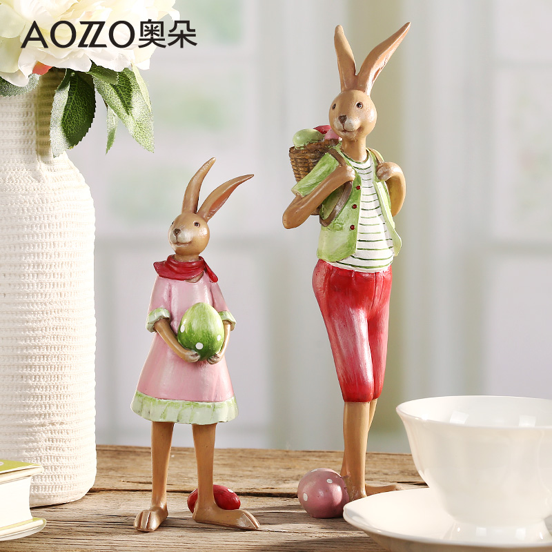 Austrian duo bedroom modern creative home decorations living room desk ornaments resin ornaments cute bunny