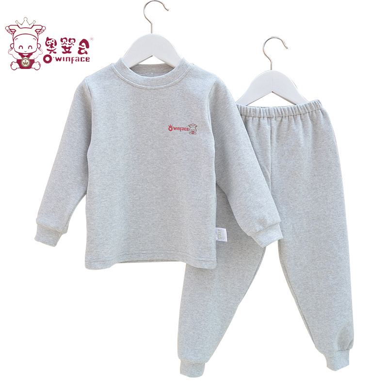 Austrian infants and children will be boys and girls fall and winter thermal underwear sets children in child comfortable cotton velvet pajamas suit qiuyiqiuku