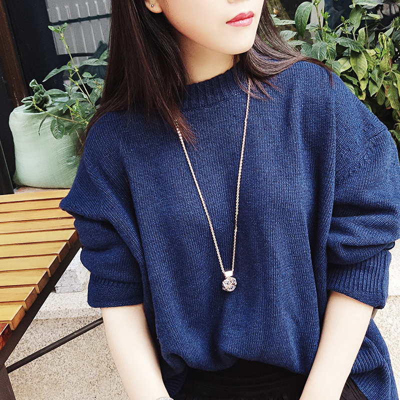 Austrian poetry ya korean creative jewelry wild female fashion long sweater chain pendant fine jewelry autumn and winter caused by accessorise