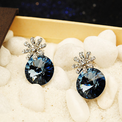 Austrian poetry ya korean jewelry female personality small flower earrings earrings earrings jewelry accessories
