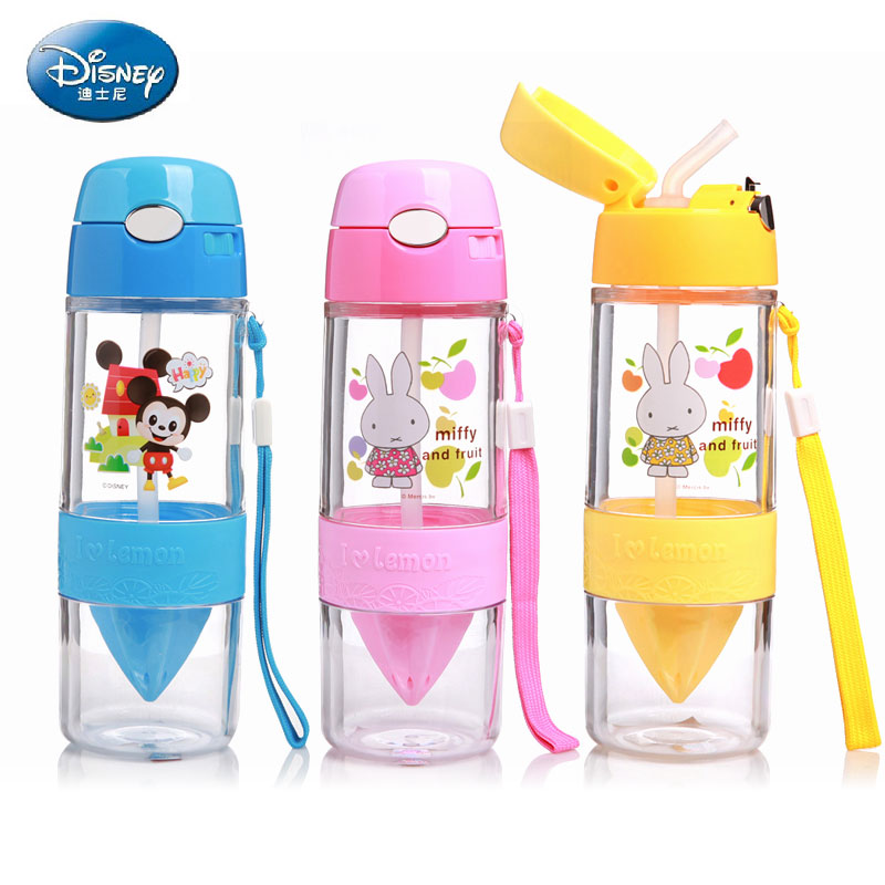 Authentic disney children's straw cup kettle plastic cups cup lemon juice cup water cup readily cup juice cup