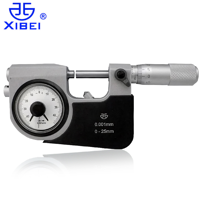 Authentic green volume lever micrometer 0-25mm25-50mm 50mm table with micrometer micrometer micrometer diameter 0.001mm