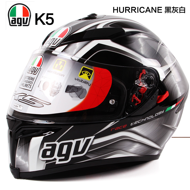 Authentic italian agv agv helmet motorcycle helmet motorcycle helmet full of autumn and winter helmet fogging k5