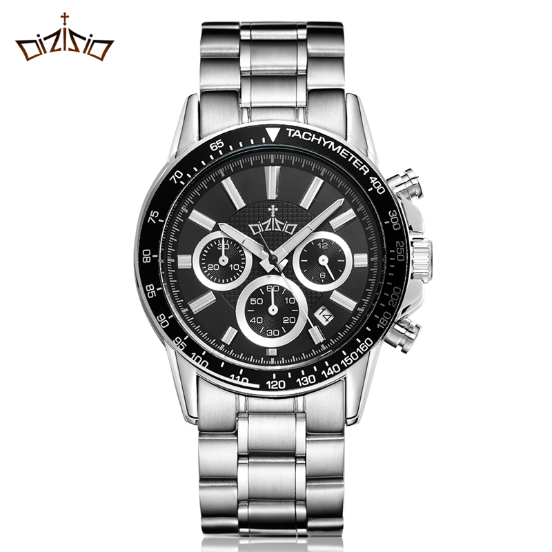 Authentic tai hereby chronograph sports watch male fashion models 6 new men's casual waterproof watch quartz watch stainless steel needle