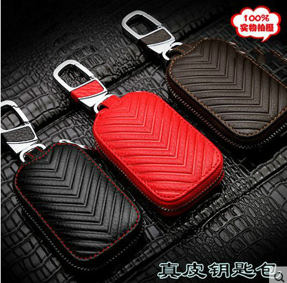 Automotive leather men's polo volkswagen tiguan passat magotan sagitar santana treasure for sets wallets waist hanging