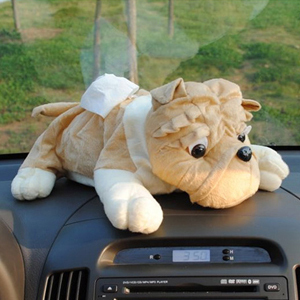 Automotive supplies cartoon car tissue box tissue tissue box tissue box cute shar pei puppy home out of paper towels