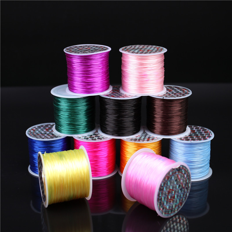 Autumn and crystal bracelet elastic cord elastic cord bracelets diy beaded wire flat cord material package