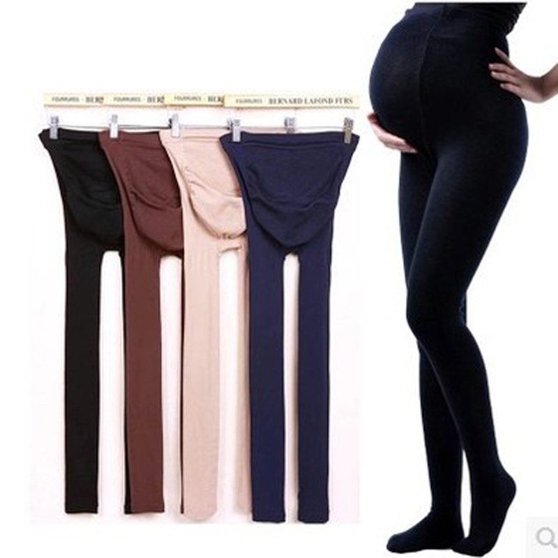 Autumn and winter care of pregnant women belly bottoming pantyhose step foot socks can be adjusted pregnant women pregnant even pregnant women leggings pantyhose