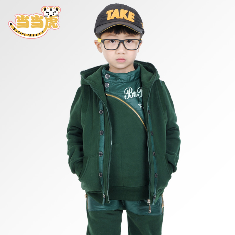 Autumn and winter children's clothing boys boys 2016 winter new children's clothing big virgin casual sweater three sets of sports suit
