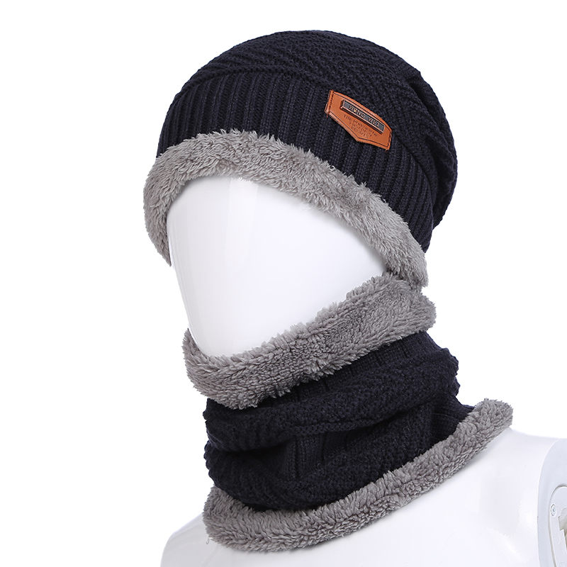 fddaa789231 Get Quotations · Autumn and winter knit hat cap baotou hat scarf hat  knitted hat scarf korean version of