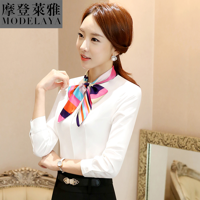 Get Quotations · Autumn and winter wear long sleeve shirts women new korean  version of slim was thin wild