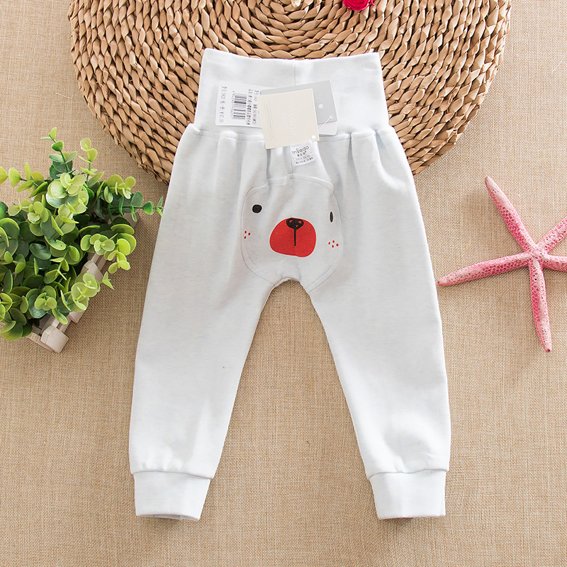 Autumn baby big pp pants waist belly qiuku nursing baby belly waist underwear care belly pants long pants children spring and autumn