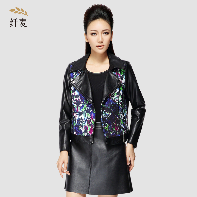 Autumn jacket/coat hundreds of the ride shirt conventional single piece printed polyester mecca sleeved large size women collage