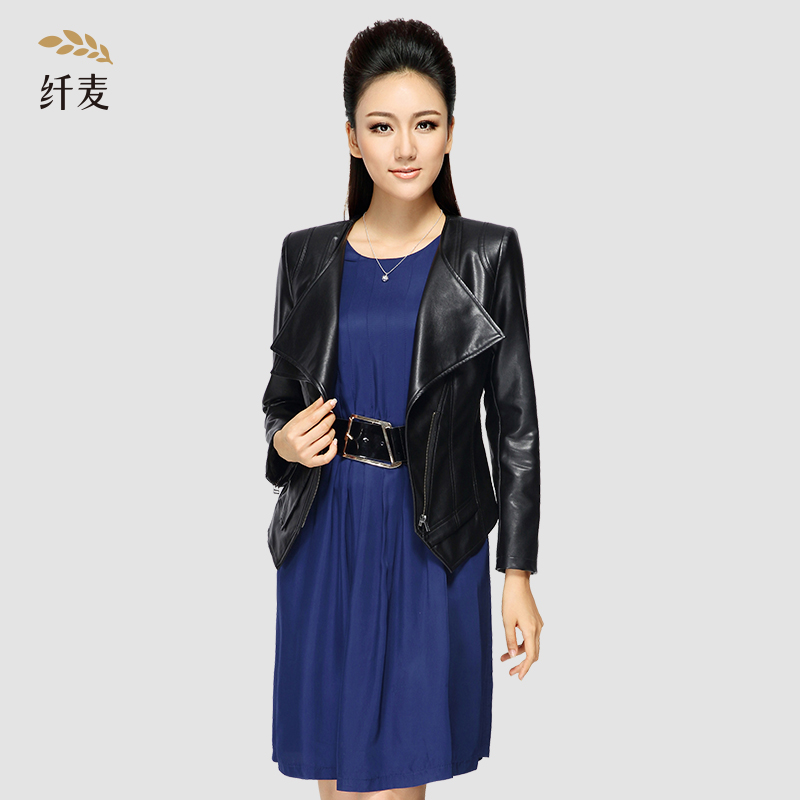 Autumn jacket/coat new loose dress conventional solid commuter large size women chiffon single pieces of mecca