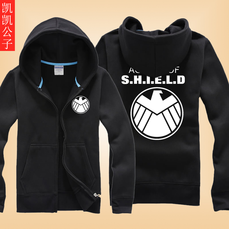Avengers s.h.i.e.l.d. autumn clothes spring and autumn coat korean student youth trend of men's shirts andhoodies