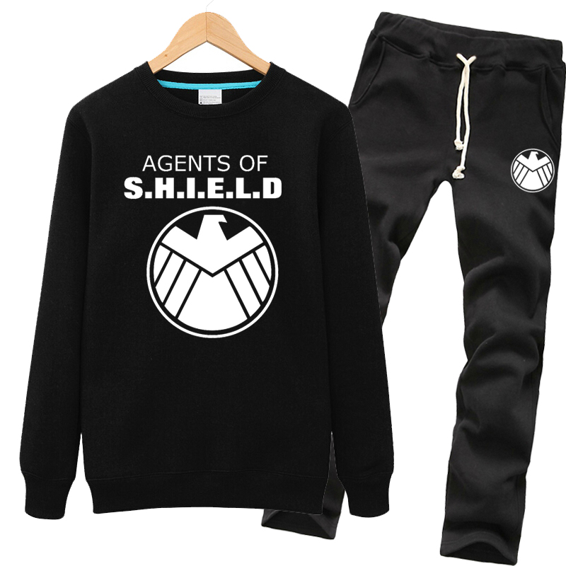 Avengers s.h.i.e.l.d. hedging coat autumn clothes spring and autumn thin section adolescent men's sweater suit