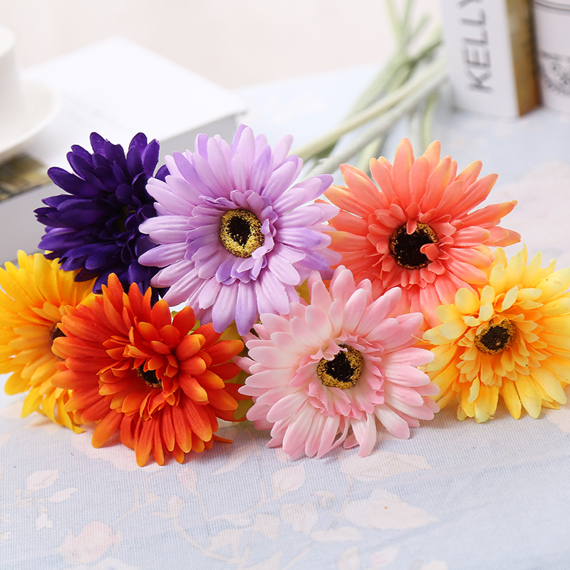 Azusa morning simulation gerbera gerbera gerbera flower table decoration living room placed floral art artificial flowers artificial flowers silk flower floor
