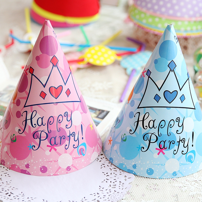 Baby birthday party supplies birthday hat party hats party celebration dress hat cap blue pink crown