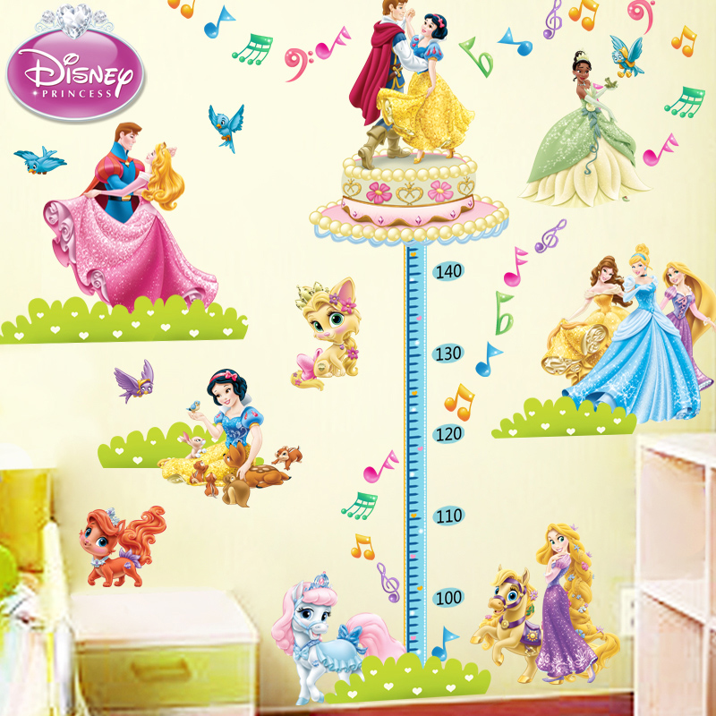 Baby feet tall height stickers cartoon wall stickers children bedroom children's room measuring height removable wall sticker