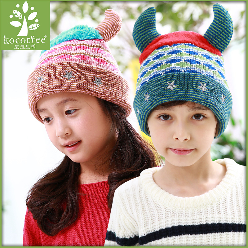 Baby hat baby hat children winter hat baby hat for men and women fall and winter 2-4-8 aged girls winter hat wool cap tide