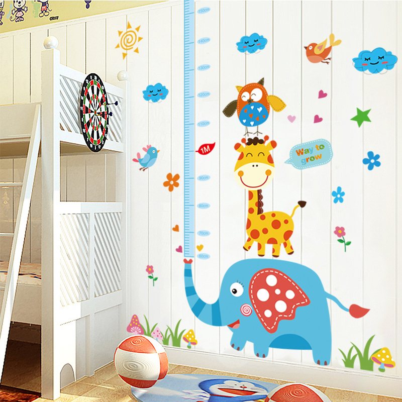 Baby measuring height stickers removable wall stickers cartoon children's room cozy bedroom wall wallpaper adhesive sticker stickers and young children park