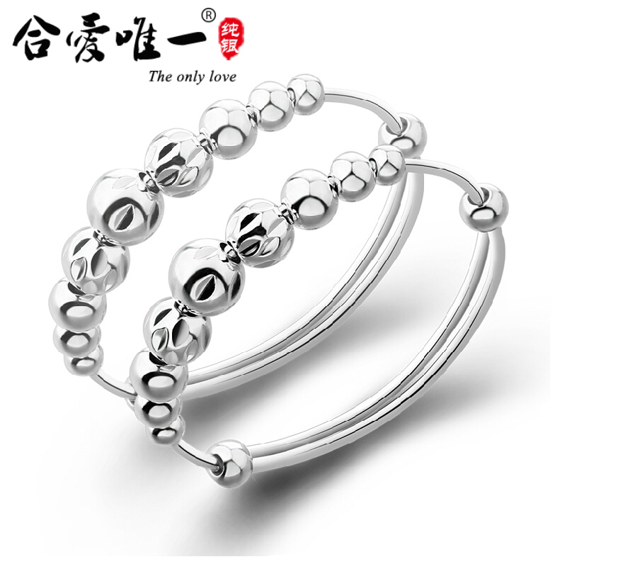Baby silver bracelet 99 fine silver sterling silver baby longevity lock silver baby jewelry bracelet transfer beads men and women coral