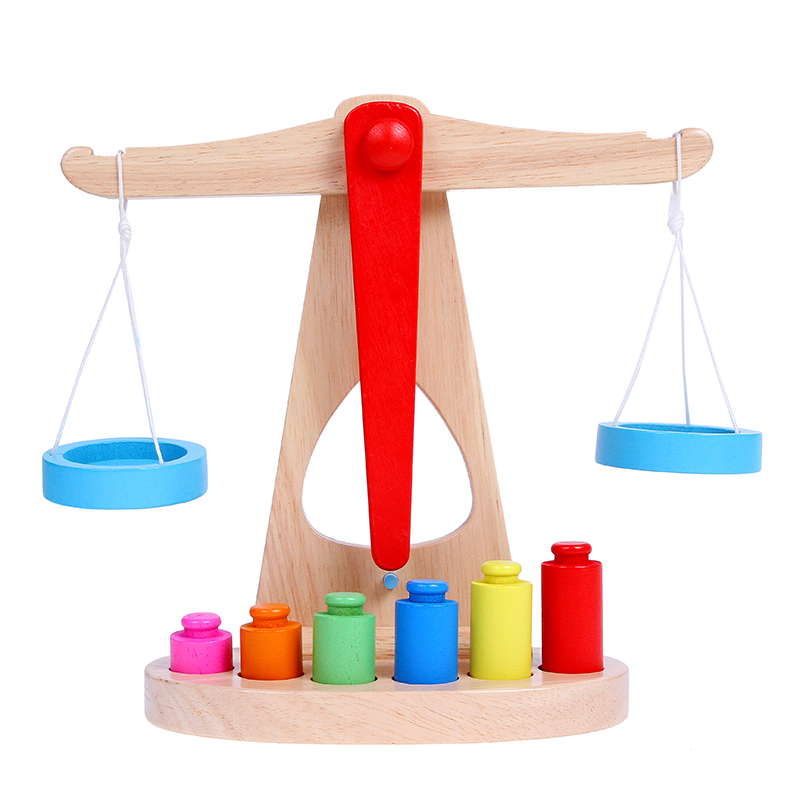 Baby toys wooden balance scale balance beam years old game early childhood educational aids for children boys and experimental