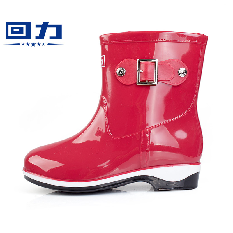 Back in summer and autumn ladies rain boots rain boots in tube rain boots rain boots rubber boots shoes sleeve slip waterproof rain boots for adults